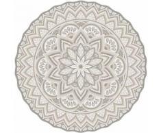 Tapis intérieur extérieur en vinyle Mandala 100 cm - Tapis et paillasson