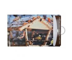Esschert Design - Paillasson déco en caoutchouc recyclé intérieur extérieur Mangeoire à oiseaux - Tapis et paillasson