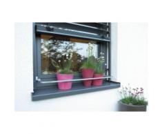 Barre de protection Pot de Fleur FLORA pour rebord de fenêtre - Aluminium - Objet à poser