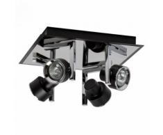 Spot noir Techno 7 ampoules 14 Cm - Appliques et spots