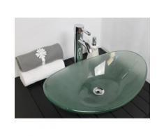 Vasque ovale en verre sablé Praga - Installations salles de bain