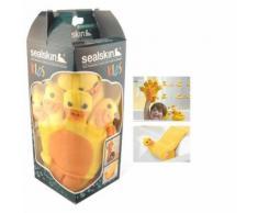Gant de toilette + cale tête canard bébé enfant bain - Linge de bain