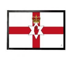 Irlande Du Nord Paillasson Essuie-Pieds - Drapeaux Du Monde (40x60 cm) - Tapis et paillasson