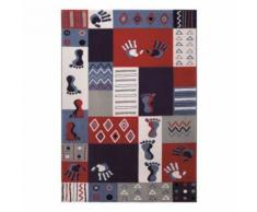 Tapis enfant Hands and Feet par Wecon Rose 133x200 - Tapis et paillasson