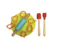 Saveur et degustation - Kit à patisserie avec rouleau pour enfant kp5062 - Ustensiles