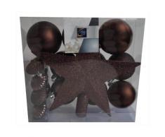 Kit 18 décorations de sapin - Boule et cimier - Taupe - Objet à poser