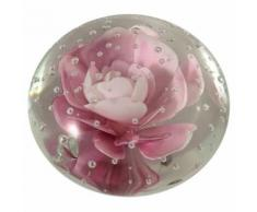Presse-Papier Sulfure Rose en Verre 5 cm - Objet à poser