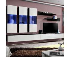 paris prix - meuble tv mural design 'fly ii' 320cm blanc & noirparis prix - meuble tv mural design 'fly ii' 320cm blanc & noir - autres