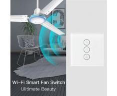 UE Smart WiFi Ventilateur au plafond commutateur APP minuterie à distance pour la maison Alexa / Google - Lampes