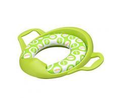 Cuvette pour sièges de toilettes en plastic pour enfants de couleur verte avec tapis - Accessoires salles de bain et WC