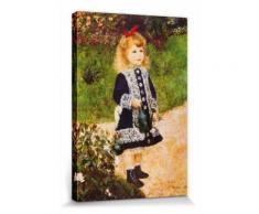 Pierre Auguste Renoir Poster Reproduction Sur Toile, Tendue Sur Châssis - La Petite Fille À L'Arrosoir, 1876 (30x20 cm) - Décoration murale