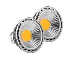2x SET Showlite LED spot GU10W05K30D 5 Watt, 330 Lumen, socle GU10, 3000 Kelvin - Appliques et spots