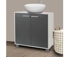 Meuble sous lavabo gris pour vasque de salle de bain - Accessoires salles de bain et WC