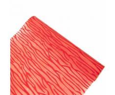 Chemin de table intissé floque ecorce coloris Rouge - 29 cm x 5 m - Objet à poser