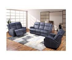 Salon complet Relax électrique - MIRVIN - L 193 x l 100 x H 111 - Tables salle à manger