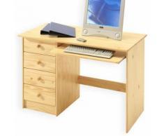 Bureau enfant 4 tiroirs vernis naturel - Bureaux