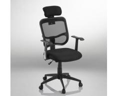 Fauteuil chaise de bureau ergonomique hauteur réglable noir BUR09007 - Sièges et fauteuils de bureau
