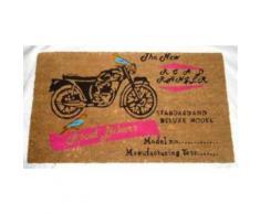 Motocyclettes Paillasson Essuie-Pieds - Good Bikers, Retro Style (40x70 cm) - Tapis et paillasson