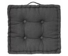 Paris prix - coussin de sol 'dorian' 40x40cm gris foncé - Textile séjour