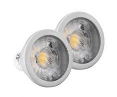 2x SET Showlite LED spot COB GU10W07K30N 7 Watt, 550 Lumen, socle GU10, 3000 Kelvin - Appliques et spots