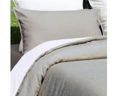 Taie oreiller 100% lin lavé 165 gr/m² - 47 fils/cm² sonate - finition sac avec rabat - Linge de lit