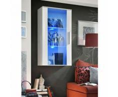 Paris prix - vitrine led murale design 'neo' 110cm blanc brillant - Vaisseliers