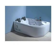 BAIGNOIRE BALNEO MASSANTE ANGLE HAUTE BAIN TOURBILLON Havana 170 X 115 - Installations salles de bain