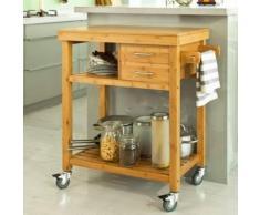 SoBuy® Meuble rangement cuisine Desserte à roulettes Kitchen Trolley FKW26-N FR - Dessertes de rangement