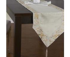 Chemin de table classique à motif floral - linge de table et décoration