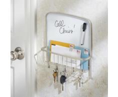 Porte clés et courrier - InterDesign - Rangement mural avec tableau blanc - Décoration murale
