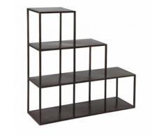 Étagères escalier en acier noir - BOXY - Étagère