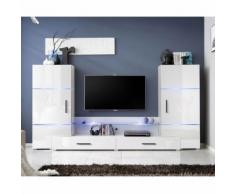 paris prix - meuble tv mural design 'tower i' 280cm blancparis prix - meuble tv mural design 'tower i' 280cm blanc - autres