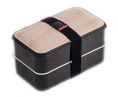 Thekitchenette lunch box 2 étages 5040441 1,2l blanc et noir - Accessoires de rangement