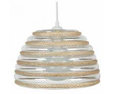 Tosel 13662 suspension cordes armonie verre 60 w e27 naturel - Appliques et spots