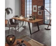 Table en bois et métal OKANA Option 1 - L 180 x P 100 x H 75 cm - Tables salle à manger