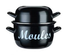 KITCHEN CRAFT KCMPLRG WORLD OF FLAVOURS MEDITERRANEAN GRANDE MARMITE À MOULES ÉMAILLÉE ACIER 24 CM - Casserolerie