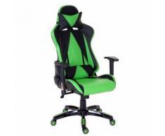 Chaise fauteuil de bureau Loksa T682 XXL, chaise pivotante, charge 150kg similicuir ~ vert - Sièges et fauteuils de bureau