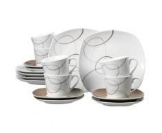 ritzenhoff & breker 595192 alina marron service à café 18 pièces - vaisselle