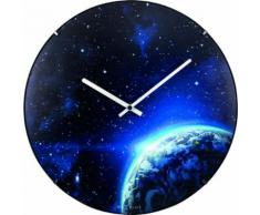 NeXtime NE-3176 Horloge murale Dia. 35 cm, globe terrestre, 'globe terrestre' - Décoration murale