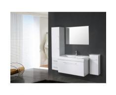 MEUBLE SALLE DE BAIN VASQUE, LAVABO, 2 Unité de colonne, Mod.White London 100 cm - Installations salles de bain