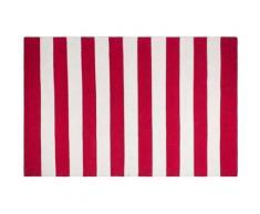 Tapis intérieur extérieur Nantucket rouge et blanc 270 x 180 cm - Tapis et paillasson