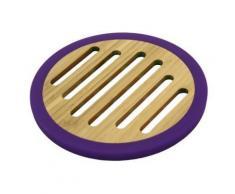 totally bamboo ba206650 dessous de plat bambou / silicone violet 20 cm - Autres