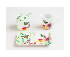 Table Passion - Service 3 Pieces Sucrier Cremier Tutti Fruti - vaisselle