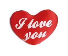 Coussin coeur lycra I Love You 33 cm oreiller - Rideaux et stores