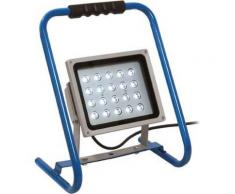 Projecteur à LED, 20 W, Puissance : 20 W, Luminosité 1600 lm, Type de câble H05RN-F 3G1,0, Long. de câble : 2, Modèle avec structure - Éclairage de chantier
