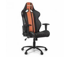 AKRacing AK-RUSH-BW Gaming Fauteuil de Bureau Faux Cuir Noir/Brun 36,5 x 56 x 146 cm - Sièges et fauteuils de bureau