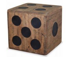 Meelady Coffre de Rangement en Bois Mindi 40 x 40 x 40 cm Design Dés - Tables de chevet