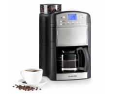Klarstein Aromatica Machine à café / cafetière 10 tasses & moulin - Verseuse en verre- Fonction Aroma+ - Inox argent - Expresso et cafetière
