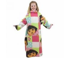 Dora l'exploratrice - Couverture en polaire à manches - Fille (90cm x 120cm) (Multicolore) - UTMS336 - Linge de lit