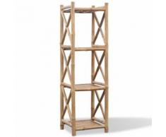vidaXL Etagère à 4 paliers en bambou - Étagère